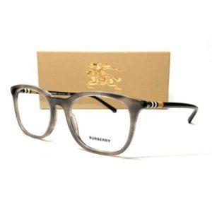 Burberry Men's Striped Grey Eyeglasses!